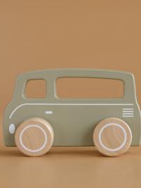 Maşinuţă clasică din lemn Dubiţă verde