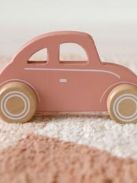 Maşinuţă clasică din lemn roz
