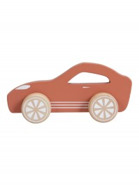 Maşinuţă roşie sport din lemn