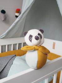 Mingiuţă moale zornăitoare Panda, bumbac organic