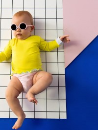 Ochelari soare bebe Diabola Blush, 0-12 luni