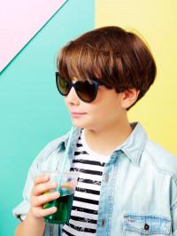 Ochelari soare copii Butterfly Black 9-12 ani