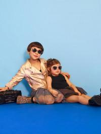 Ochelari soare copii Butterfly Pink Glitter 4-6 ani