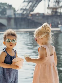 Ochelari soare copii Ourson Almond Green, 2-4 ani