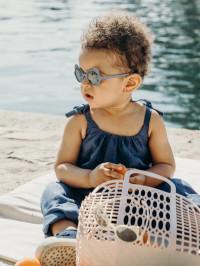 Ochelari soare copii Ourson Silver Blue, 2-4 ani