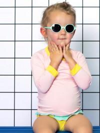 Ochelari soare copii Round Aqua, 1-2 ani