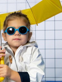 Ochelari soare copii Round Blue, 2-4 ani