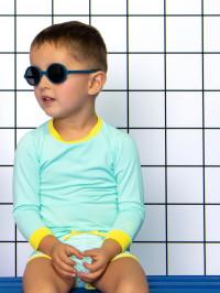 Ochelari soare copii Round denim, 2-4 ani