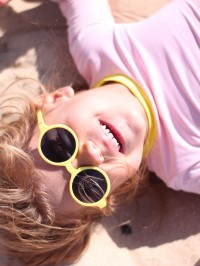 Ochelari soare copii Woam Yellow, 2-4 ani