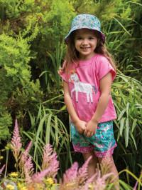 Pălărie soare reversibilă Heidi Aqua Indian Horse