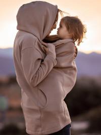 Palton sarcină şi babywearing Kaya Latte