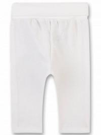 Pantaloni albi tricotaţi bebe, unisex