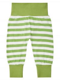 Pantaloni bumbac organic bebe Sjors Green Stripes