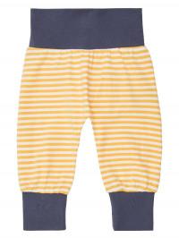 Pantaloni bumbac organic Sjors Yellow Stripes