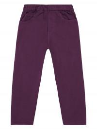 Pantaloni lungi twill Amia Purple