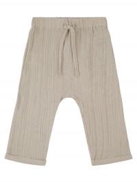 Pantaloni muselină bebe Mare Beige