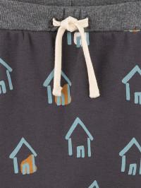 Pantaloni pentru bebe Sanetta Pure, imprimeu căsuţe