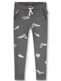 Pantaloni sport băieţi Sanetta Pure Graffiti Grey