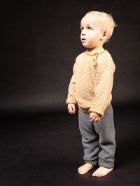 Pantaloni tricotaţi bebe Proust Dark Grey