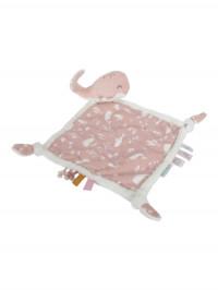 Păturică-jucărie bebeluşi Balena Ocean Pink
