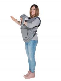 Protecţie din fleece pentru babywearing Bunny Years Grey