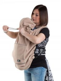 Protecţie din fleece pentru babywearing Cappuccino