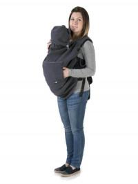Protecţie din fleece pentru babywearing Graphite