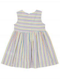 Rochie cu dungi multicolore pentru fetiţe