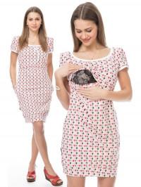 Rochie gravide şi alăptare Glückstropfe, roz