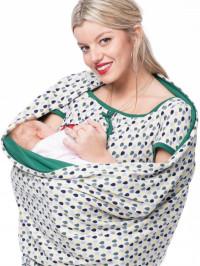Rochie gravide şi alăptare Glückstropfe, verde