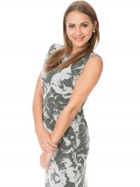 Rochie sarcină şi alăptare Gioia, gri
