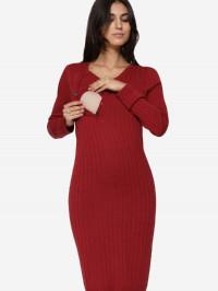 Rochie sarcină şi alăptare Lucca Red, amestec lână