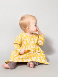 Rochiţă bumbac organic bebe Alina Pompoms