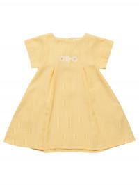 Rochiţă cu broderie Greta galbenă