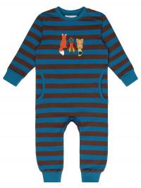 Salopetă bebeluşi Strindberg, dungi albastre