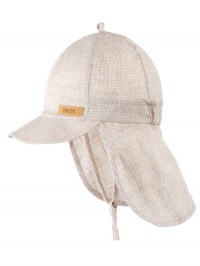 Şapcă din in, protecţie UV Sand