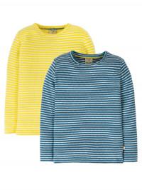 Set 2 bluze mânecă lungă, imprimeu dungi