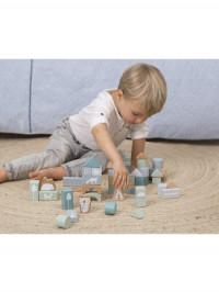 Set cuburi din lemn albastre