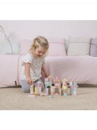 Set cuburi din lemn Roz