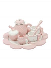 Set din lemn pentru ceai Roz