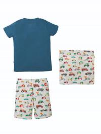 Set pijama băieţi şi husă pernă Car