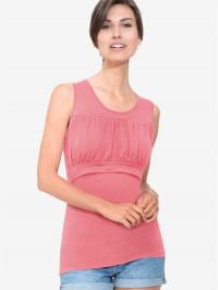 Top roz sarcină şi alăptare Zoe, bambus organic