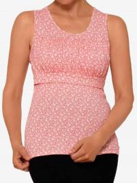 Top sarcină şi alăptare Zoe, imprimeu floral roz