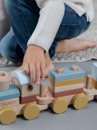 Trenuleţ lemn cuburi stivuibile Pure Nature