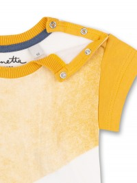Tricou bebe băieţi Sanetta Pure, imprimeu prespălat