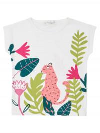 Tricou bumbac organic Dora Leopard Print