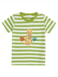 Tricou bumbac organic Green Stripes Tiger