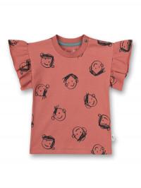 Tricou mâneci cu volane Bloomy Rose