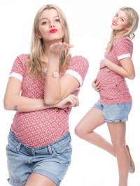 Tricou pentru gravide şi alăptare Sunna roz