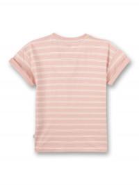 Tricou roz cu dungi, bumbac organic